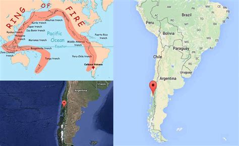 america volcano map active andes volcanoes calbuco volcano stratovolcano