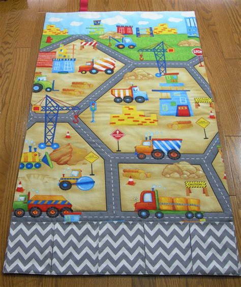 construction play rug play mat construction road roll up fold up travel play