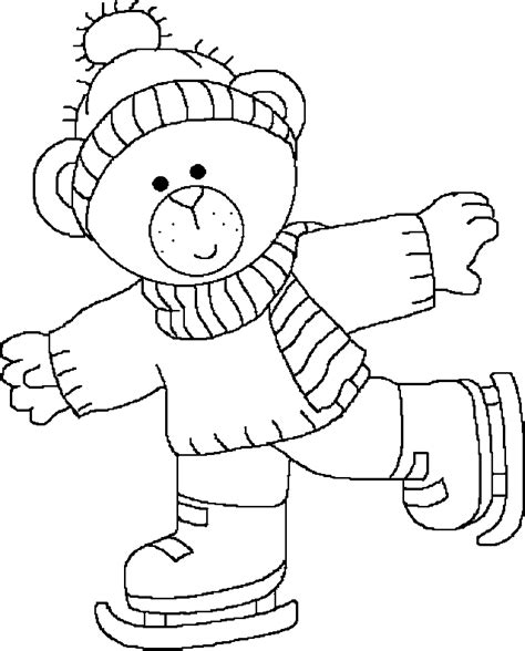 snow bear coloring page coloriage hiver maternelle les beaux dessins de