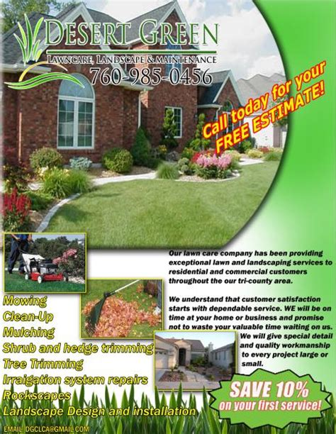 Landscaping Advertising Ideas Lawn Care Flyer Lawn Care Business Marketing Tips Gopherhaul