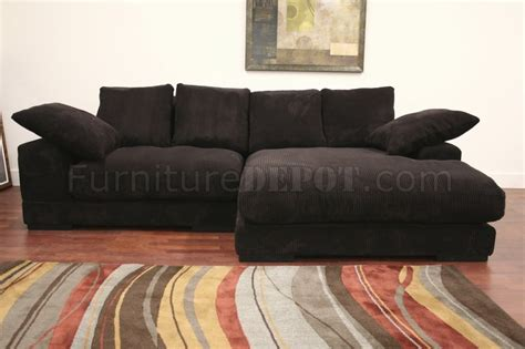 dark brown microfiber sectional dark brown ribbed velvety microfiber modern sectional sofa