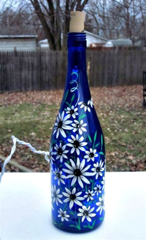 Decorative Bottles : Blue Wine Bottle Light, Table Light