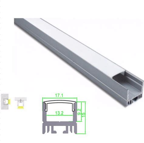 light commercial recessed aluminum led profile for led light