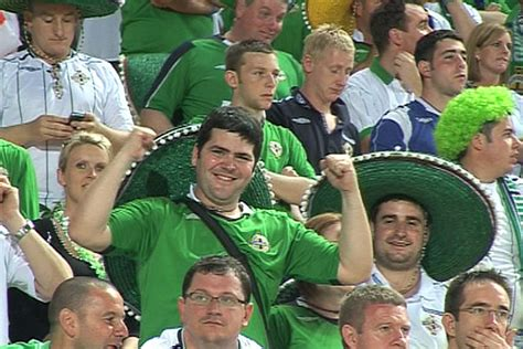hot speedo clad football fan captures ire of security bbc sport northern ireland rtsa gallery ni fans on tour