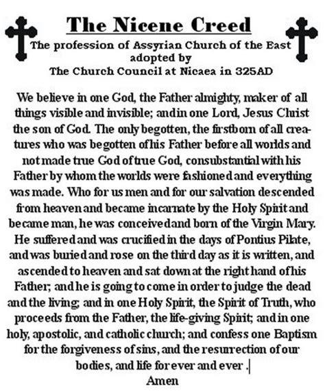 printable version nicene creed nicene creed catholic new 2012 cadillac
