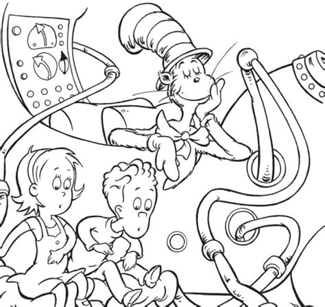 Dr Seuss Birthday Coloring Pages Printable Happy Birthday Dr Seuss Coloring Page
