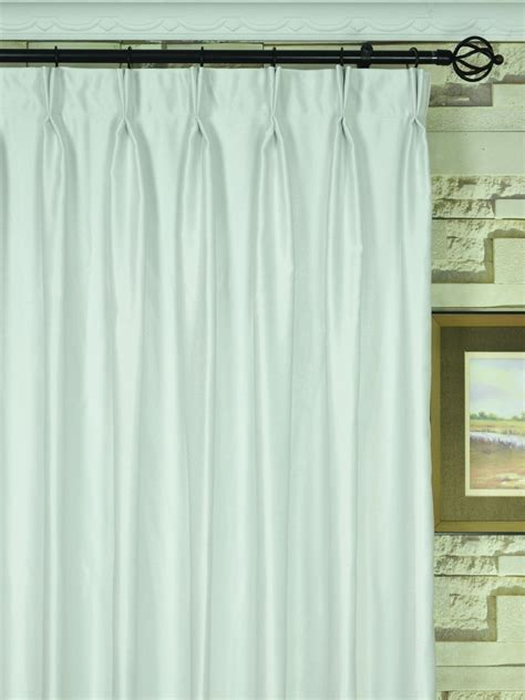 pinch pleat drapes 120 x 84 extra wide swan beige and yellow solid double pinch pleat