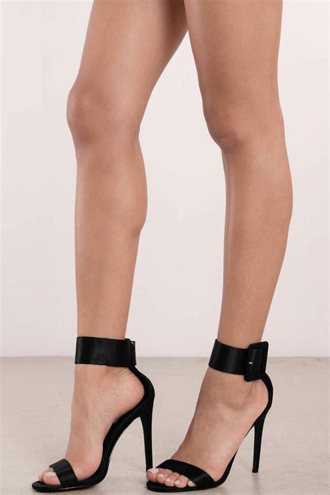 black high heels with straps black heels ankle heels pretty black heels 35