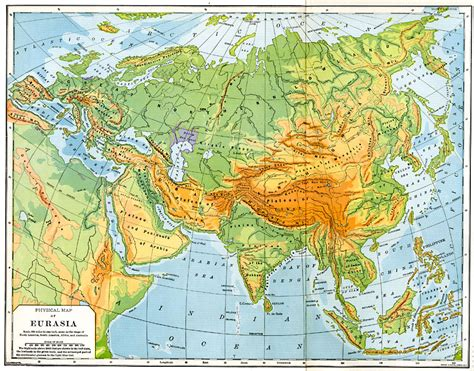 map of eurasia physical map of eurasia