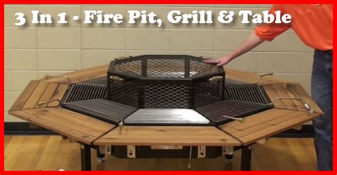 pit grill table combo pit grill table combo the three in one table