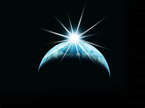 wallpaper animasi luar angkasa gambar matahari terbit di luar angkasa