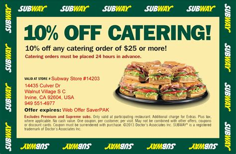 subway restaurant coupons printable printable coupons subway coupons