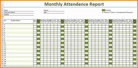 Employee Monthly Attendance Sheet Template Excel 4 Employee Attendance Sheet Expense Report