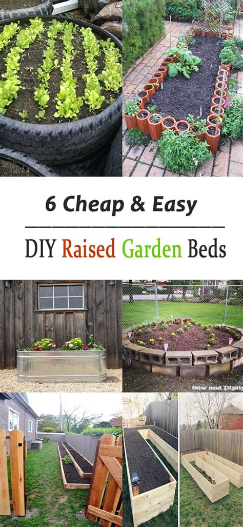 diy raised garden beds cheap 6 cheap easy diy raised garden beds
