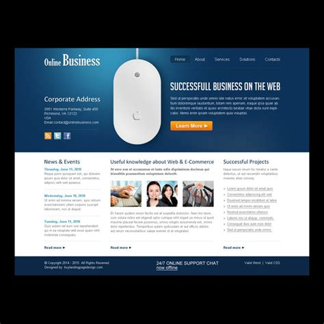 website templates for online business online business website template online business website
