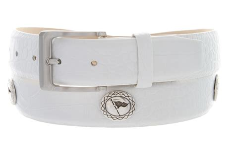 masters italian calfskin leather white golf belt 1 3 8 quot wide