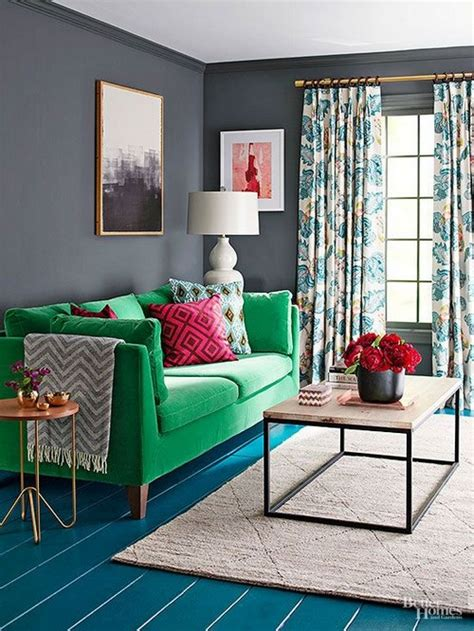 Gray Living Room With Pop Of Color 25 Living Rooms With Stunning Color Pops Messagenote