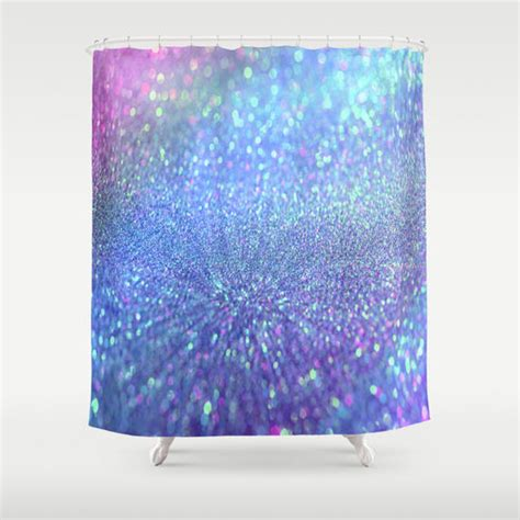 Sparkle Shower Curtain by Pink Purple Glitter Shower Curtain By From Society6 Shower