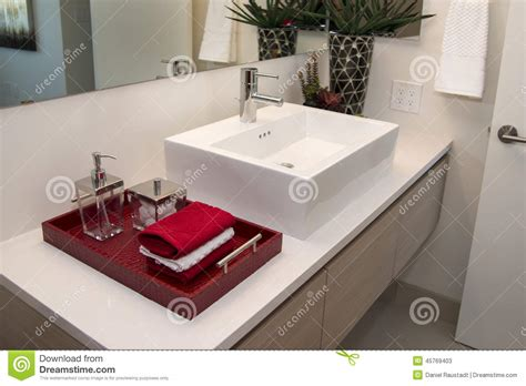 home interior bathroom mirror and sink stock photo image modern home bathroom sink stock photo image 45769403