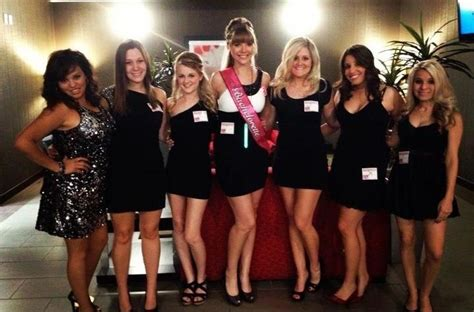 black dress bachelorette party girls black dress