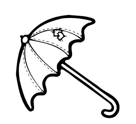 big umbrella coloring page umbrella pictures to color clipart best