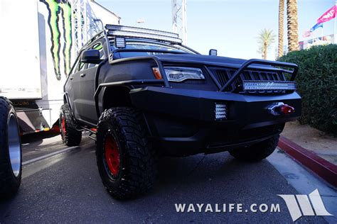sema jeep grand 2015 sema charcoal bulletproof jeep wk2 grand