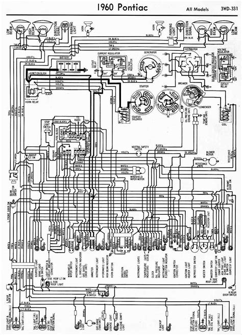 complete wiring diagram of 1960 pontiac circuit wiring diagrams
