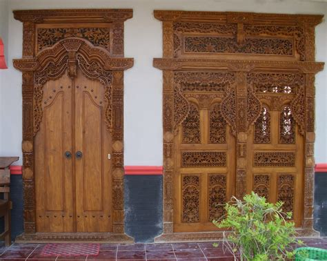pintu gebyok rumah minimalis  perabot jepara furniture klasik luxury