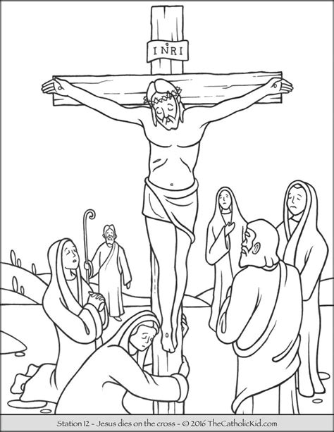 coloring page jesus cross 14 best stations of the cross coloring pages images on