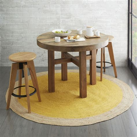west elm round bordered round jute rug horseradish west elm australia