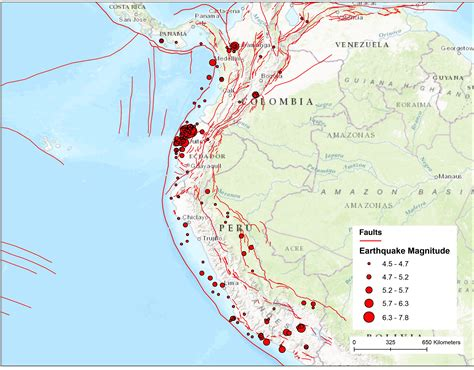 earthquake fault lines map south america fault map temblor net