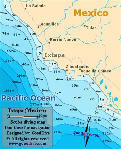 map of mexico showing ixtapa ixtapa map gallery
