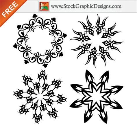 free design vector ai ornate design elements free vector graphics illustration