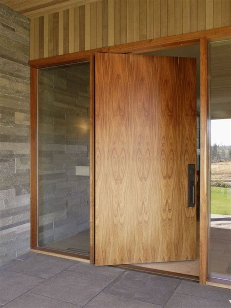 Flat Front Doors Exterior Marvellous Contemporary Entry With Swivel Flat Door From Pivot Door Company Also And