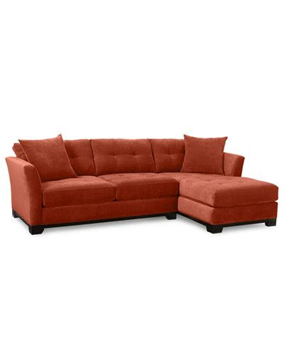 Elliot 2 Piece Chaise Sectional Sofa Custom Colors Sectional Sofa Macys