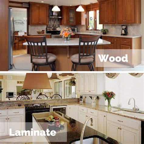 laminate cabinets vs wood which is better for cabinet refacing laminate or wood