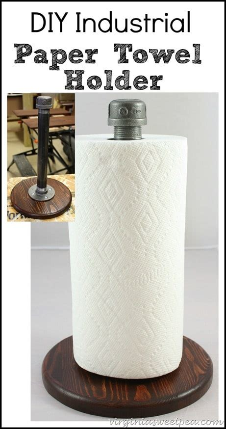 diy paper towel dispenser diy industrial paper towel holder sweet pea
