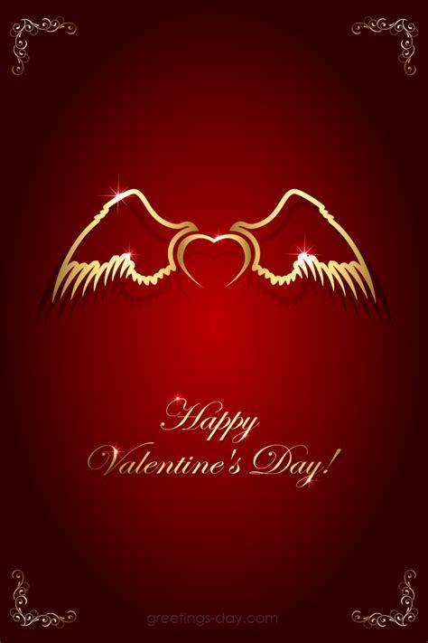 valentines day ecard love angel wings