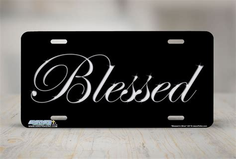 Decorative License Plates For Front Of Car by Blessed Front Plate Christian Decorative License Plate Car