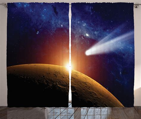 solar system curtains comet tail planet mars star cosmos in solar system scenery