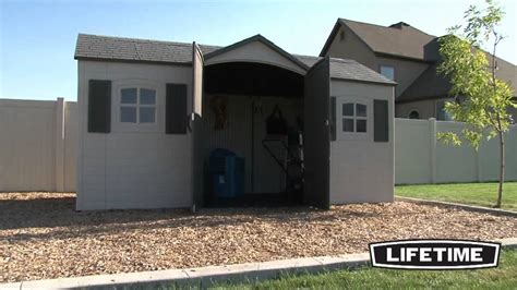 Lifetime Shed Foundation by Lifetime 15x8 Garden Storage Shed 6446