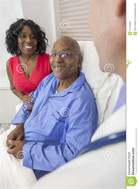 how are nigerian men in bed senior african american man in hospital bed stock photo