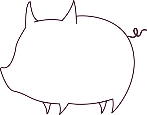 pig template pig outline clip at clker vector clip