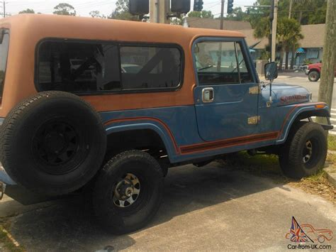 jeep scrambler blue jeep scrambler cj8 sky blue w rally top family roll bar