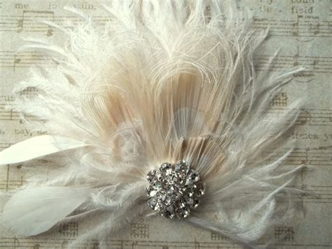 Vintage Bridal Feather Hair Fascinator by Fascinator Feather Hair Clip Wedding Hair Accessories