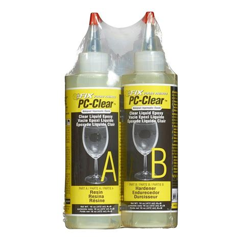 pc products 16 oz pc clear liquid epoxy 070161 the home