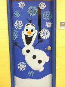 winter door decoration olaf from frozen winter