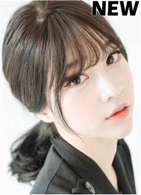 medium hairstyles with bangs korean best 25 see through bangs korean ideas on pinterest