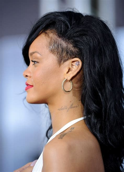 pictures with hair shaved to sides with micro braids rihanna photos photos stars at the battleship premiere