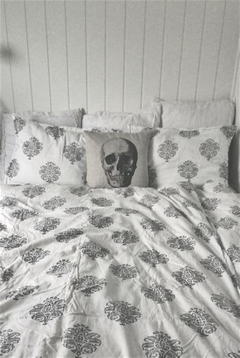 indie bedding home accessory bedding bedroom bedroom indie boho pillow skull wheretoget